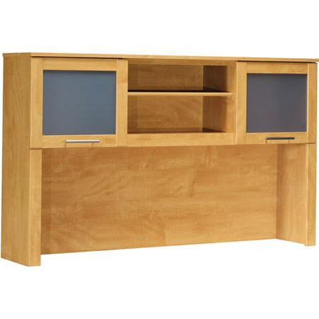 Bush Somerset 60 Quot L Shaped Desk With Hutch Maple Cross