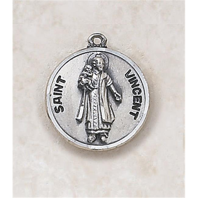 CB Catholic SS727-53 Sterling Patron Saint Vincent Medal with 20 in. Chain - image 1 de 1