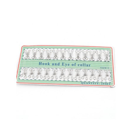 - 24 Sets Metal Sewing On Garment Button Hook Eyes Collar Clothing Clasp