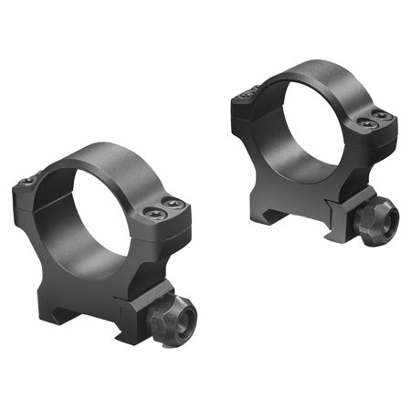 Matte Aluminum Edge (Leupold 175119 BackCountry Cross-Slot Ring Set 30mm Diam Low Aluminum Black Matte )