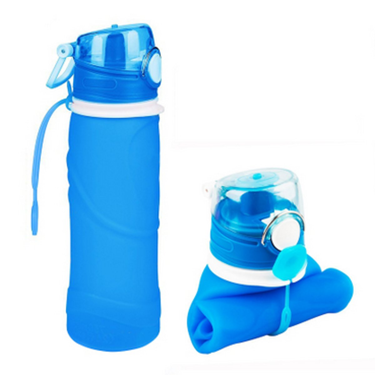 Moaere Collapsible Silicone Water Bottles Sports Camping Canteen 750ml  Easy To Clean And Store