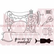 """Woodware Clear Stamps 3.5""""X5.5""""-Sew Wonderful"""