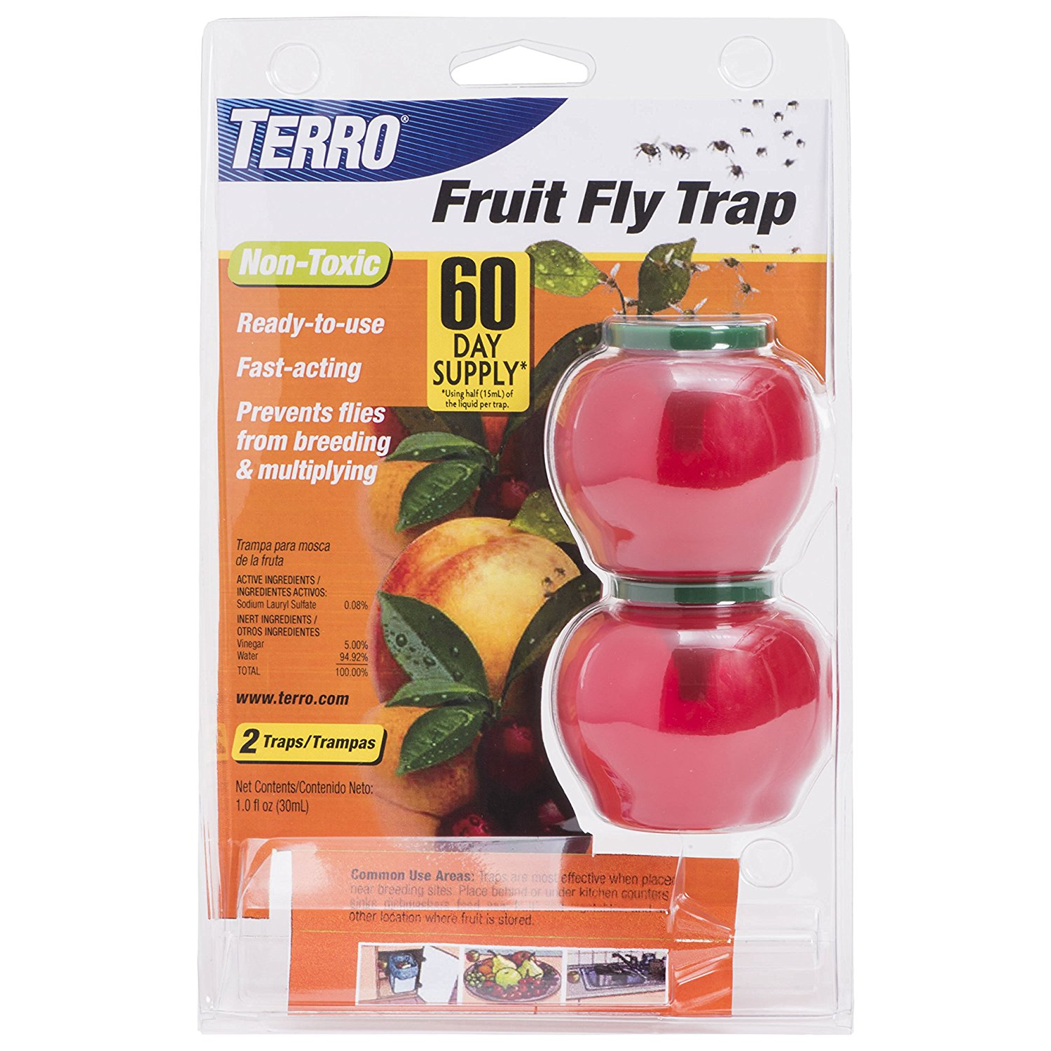 TERRO Fruit Fly Trap – 4 Pack T2502