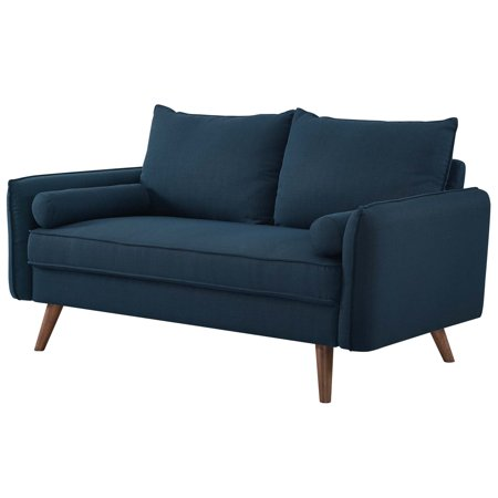 Pleasant Modern Contemporary Urban Design Living Room Lounge Club Lobby Loveseat Sofa Fabric Navy Blue Andrewgaddart Wooden Chair Designs For Living Room Andrewgaddartcom
