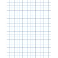 School Smart Graph Paper, 8-1/2 x 11 Inches, 1/2 Inch Rule, White, 500 Sheets