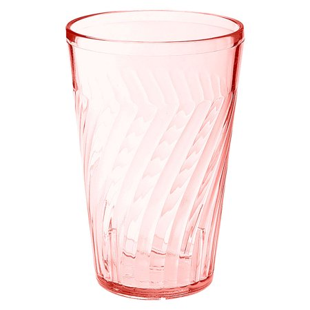 Plastic Reusable Tahiti Tumblers 16 oz 3.44 x 5.25 Beverage Red SAN/Case of -
