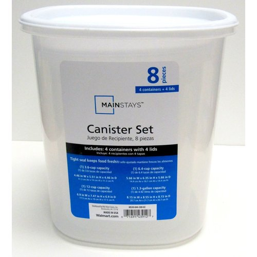 Mainstays 4pc Canister Set