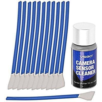 aps-c frame (ccd/cmos) digital camera sensor cleaning swab type 2 cleaning kit (box of 12 x 16mm swab + 15ml sensor (Digital Sensor Cleaning Kit)