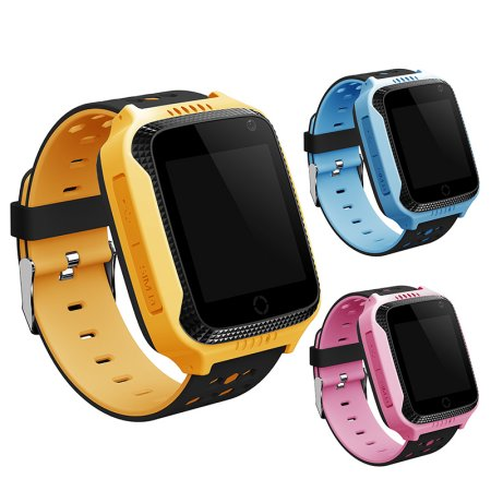Jeobest Children Smart Watch - Kids Smart Watch Wristwatch with camera GPS Tracker Anti-Lost Waterproof Suitable For Android For Girls and Boys (SIM card is not included)(Yellow)