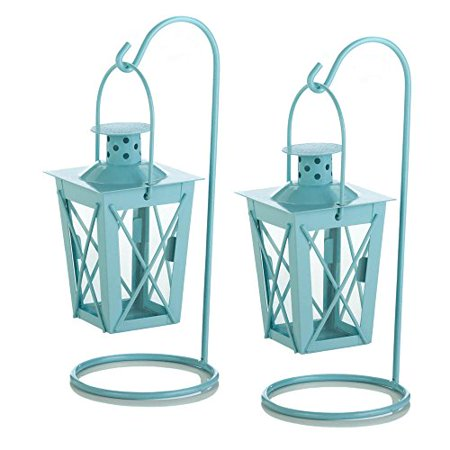 Baby Blue Hanging Railroad Lanterns Home Decor Home Decorative Items Accessories and Gifts