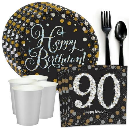 Sparkling Celebration 90th Birthday Standard Tableware Kit (Serves - Gift Ideas For 90th Birthday