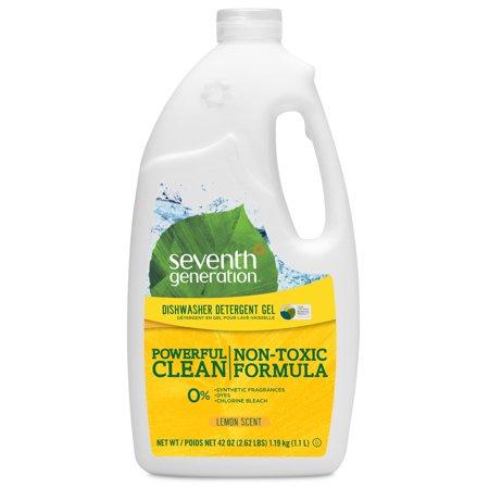 Lemon Dishwasher - Seventh Generation Dishwasher Detergent Gel Lemon 42 oz