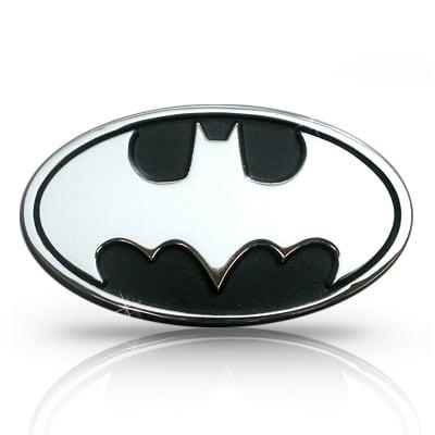 Batman Chrome Metal Car Emblem - Batman Car Decal