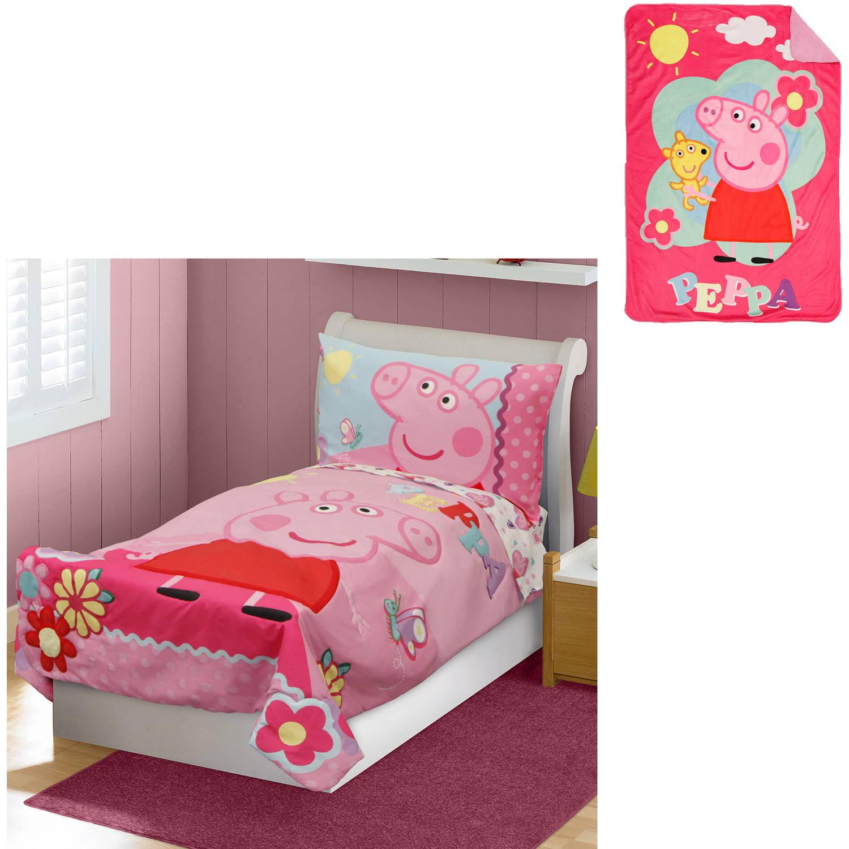 Nickelodeon Peppa Pig Toddler Bedding Set with Bonus Blanket   Walmart com. Nickelodeon Peppa Pig Toddler Bedding Set with Bonus Blanket