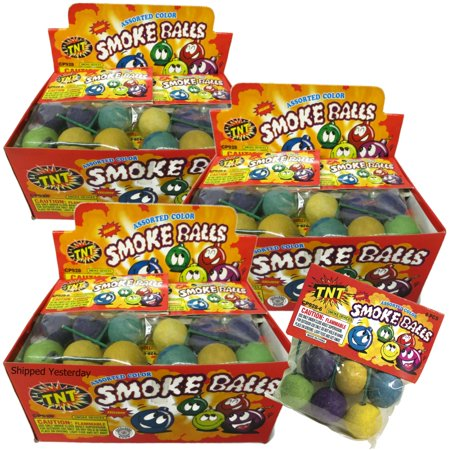 TNT Clay Smoke Balls #1 Selling Brand, Assorted Colors, 216 Pieces (3 Full Display Cases)