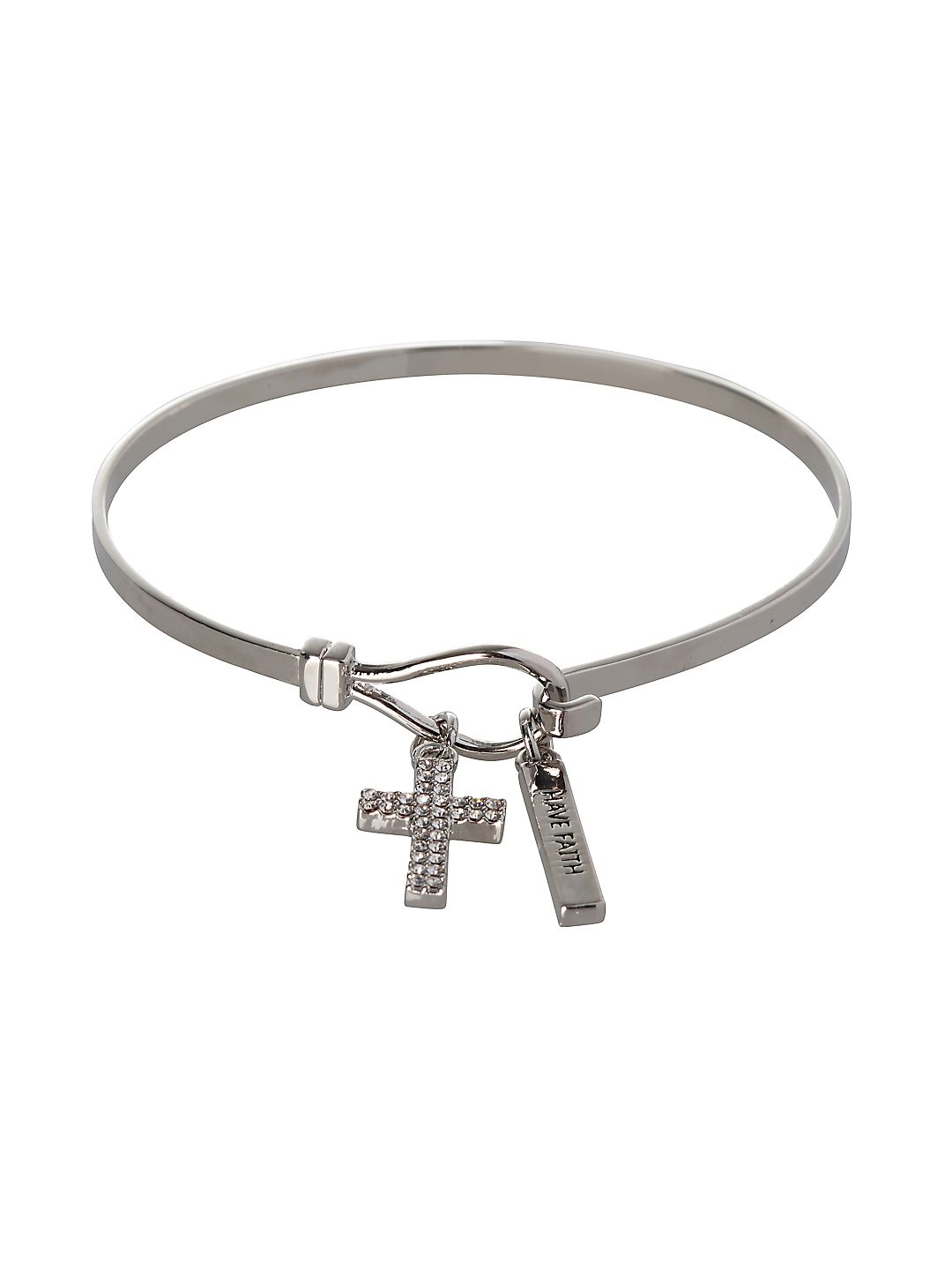 Basic Cross & Have Faith Charm Bracelet