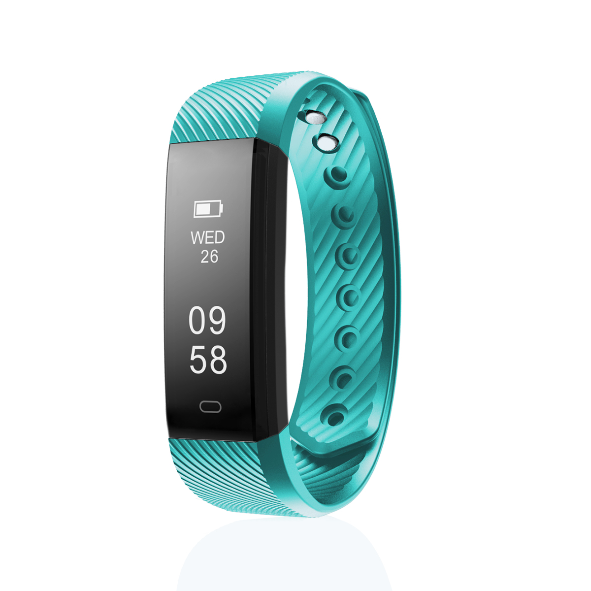 Diggro ID115 Smart Bracelet Bluetooth 4.0 Pedometer Calorie Sleep Monitor Call/SMS Reminder for Android IOS Green