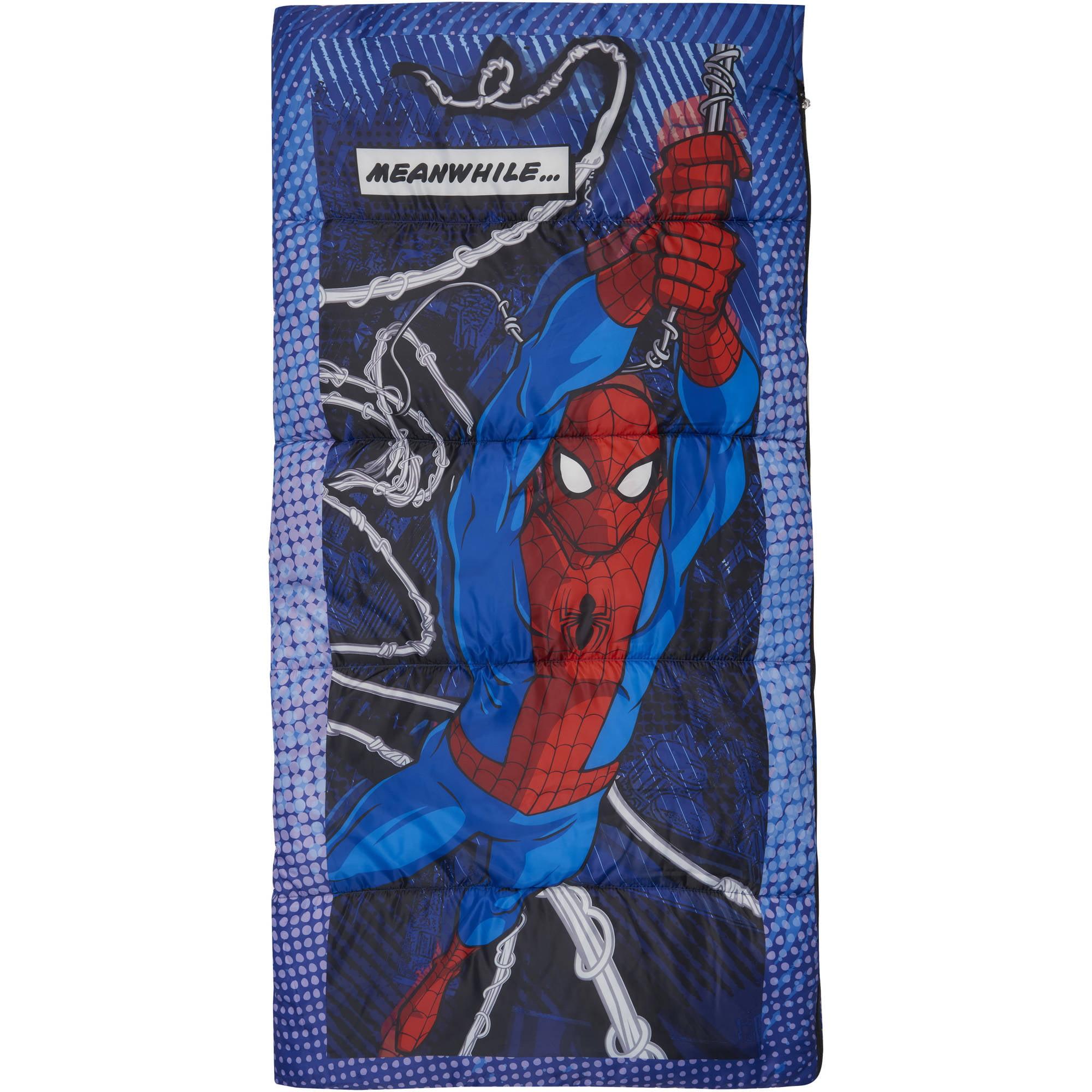 Spiderman Kids Sleeping Bag, Multi-Color by