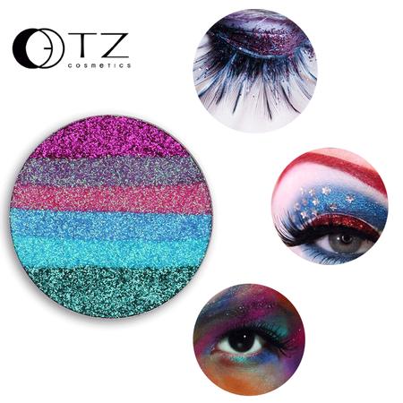 Topcobe Beauty 2# Shimmer Eyeshadow Singles for Makeup, Women's Glitter Diamonds/Waterproof Single Eyeshadow Palette , Cosmetic Eye Shadow Loose Powder(Six
