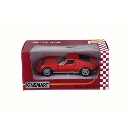 1971 Lamborghini Miura P400 Sv  Red   Kinsmart 5390W   1 34 Scale Diecast Model Toy Car