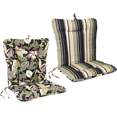 Jordan Manufacturing Outdoor Wrought Iron Reversible Dina Lounger Cushion, Multiple Colors