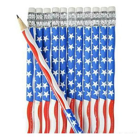 American Flag Pencil- 12pk - Play Kreative TM (American Flag)