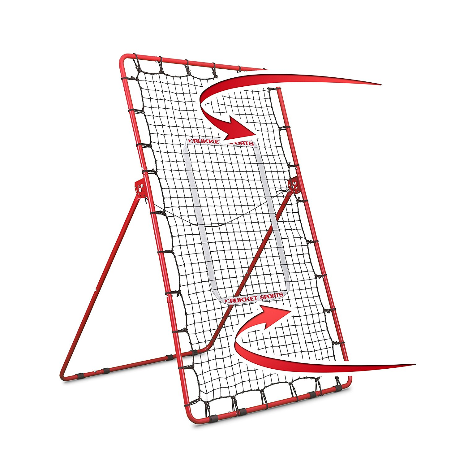 Rukket Pitch Back Baseball/Softball Rebounder | Pitching and Throwing Practice Partner | Adjustable Angle Pitchback Trainer