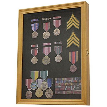 Military Medals, Pins, Patches, Insignia, Ribbons Display Case Wall ...