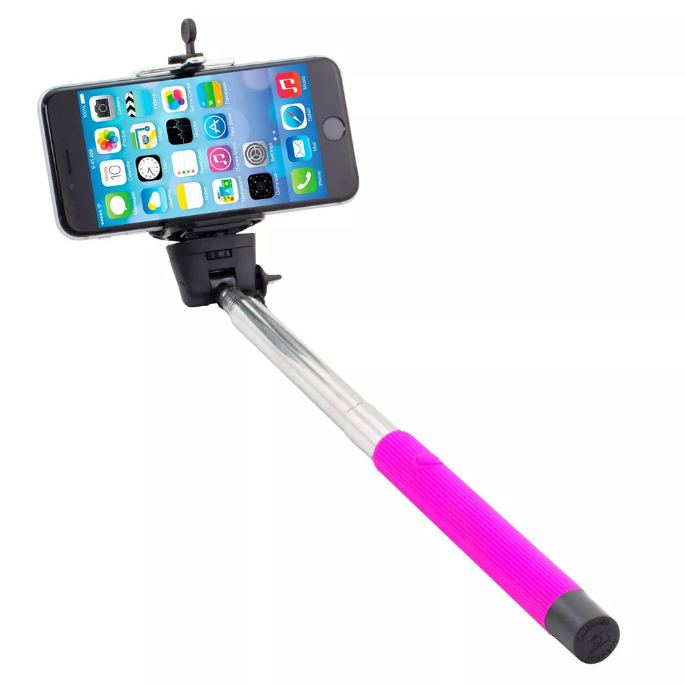 Iworld Wireless Selfie Stick Bluetooth Extendable Monopod with Built-in Shutter Release Button Collapsible Design for Most Smartphones SS2-1050. Blue