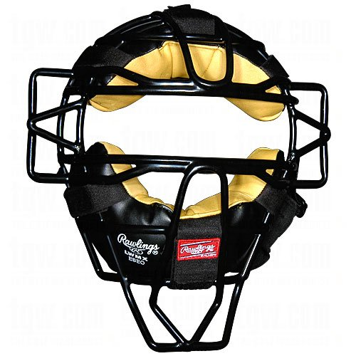 Rawlings Face Mask LWMX-B Adult Hollow Wire Lightweight Mask Black Catchers Mask by Rawlings