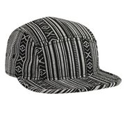 Wholesale 12 x OTTO Aztec Pattern Cotton Jacquard Square Flat Visor 5 Panel Camper Hat - Design 002 - (12 Pcs)