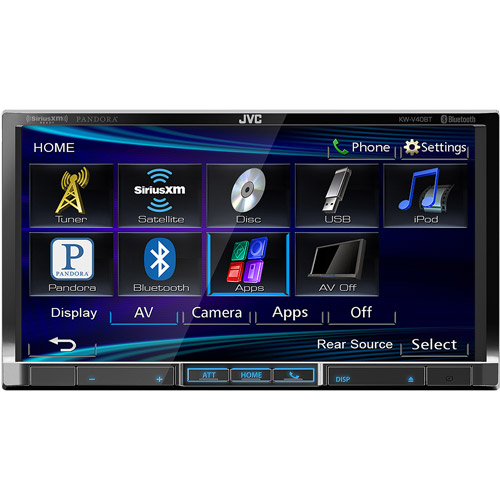 JVC KWV40BT Brand New Mobile 7-Inch D-DIN, DVD/USB