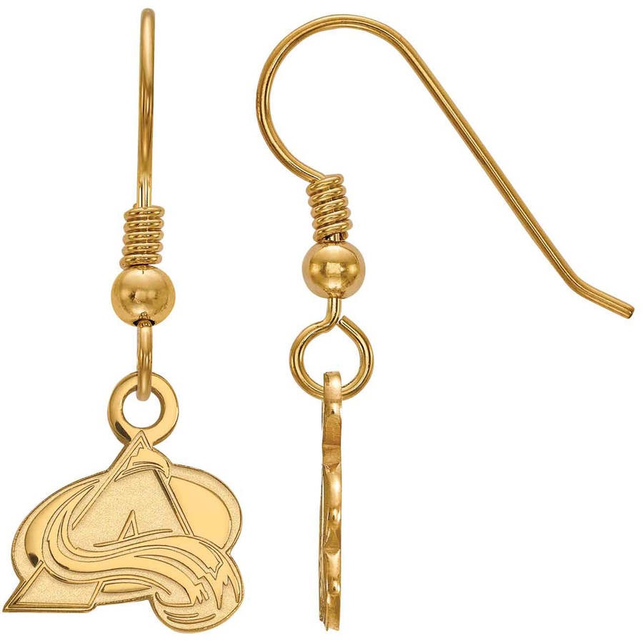 LogoArt NHL Colorado Avalanche 14kt Gold-Plated Sterling Silver Extra Small Dangle Earrings