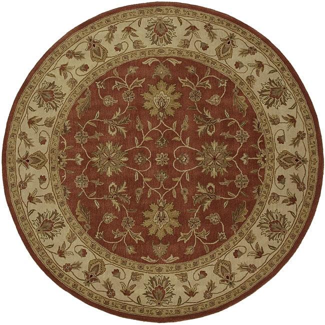 Hand-Tufted Camelot Oriental Wool Rug (8' Round)