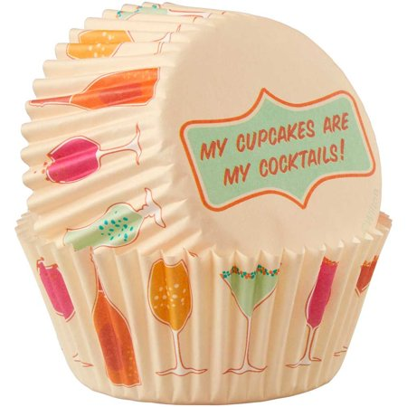 Wilton My Cupcakes are My Cocktails Baking Cups,  75 Count