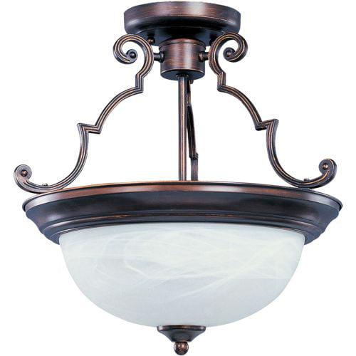 """Maxim 5844 Essentials 17"""" Wide 3 Light Ceiling Light"""