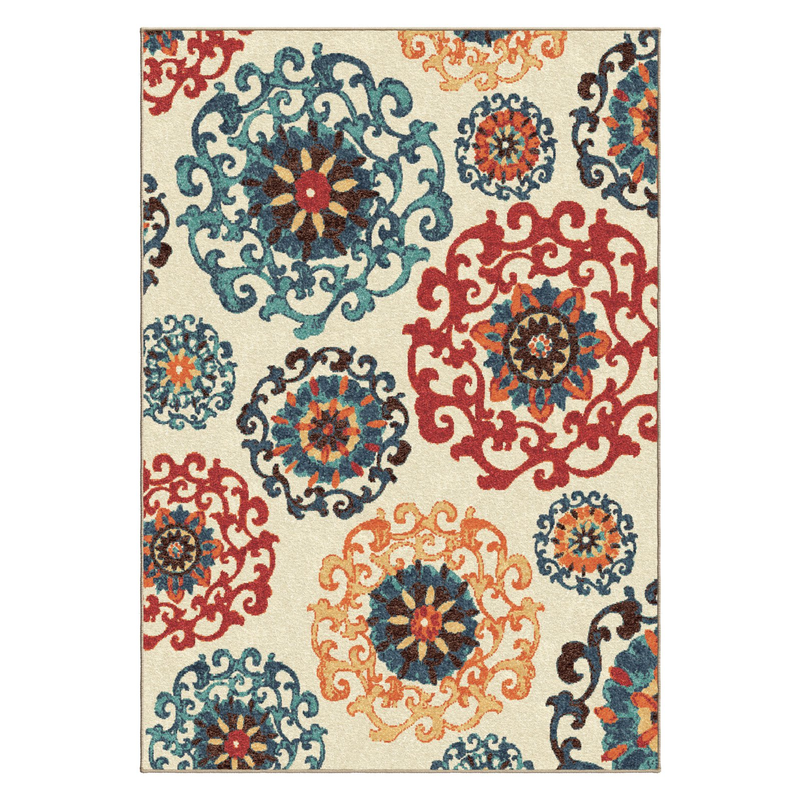 orangewhite white zipcode orange floral design area pdx reviews princess wayfair flowers rug rugs bright