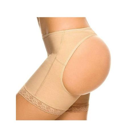 SAYFUT Womens Shapewear Butt Lifter Body Shorts Tummy Control Seamless Panties Lace Lining Pants Plus Size S-3XL