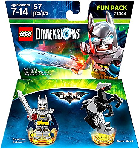 Excalibur Batman + Bionic Steed Fun Pack Lego Dimensions Not Machine Specific by