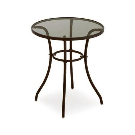 Courtyard Creations TGS23HG Verona Glass-Top Bistro Table, 24-In. - Courtyard Creations TGS23HG Verona Glass-Top Bistro Table, 24-In