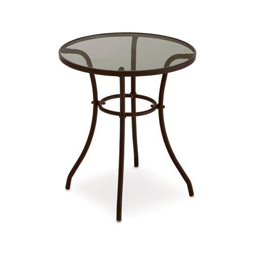 Courtyard Creations TGS23HG Verona Glass Top Bistro Table, 24 In.