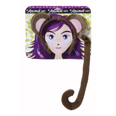 Monkey Ears and Tail Set F71198 - Monkey Tail And Ears