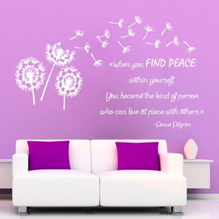 Stickalz Llc When You Find Peace Within Quote Sticker Wall Decal