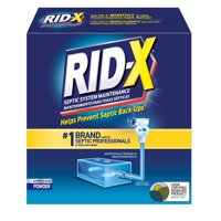 RID-X Septic Treatment Drain Opener, 4 Month Supply of Powder, 39.2oz