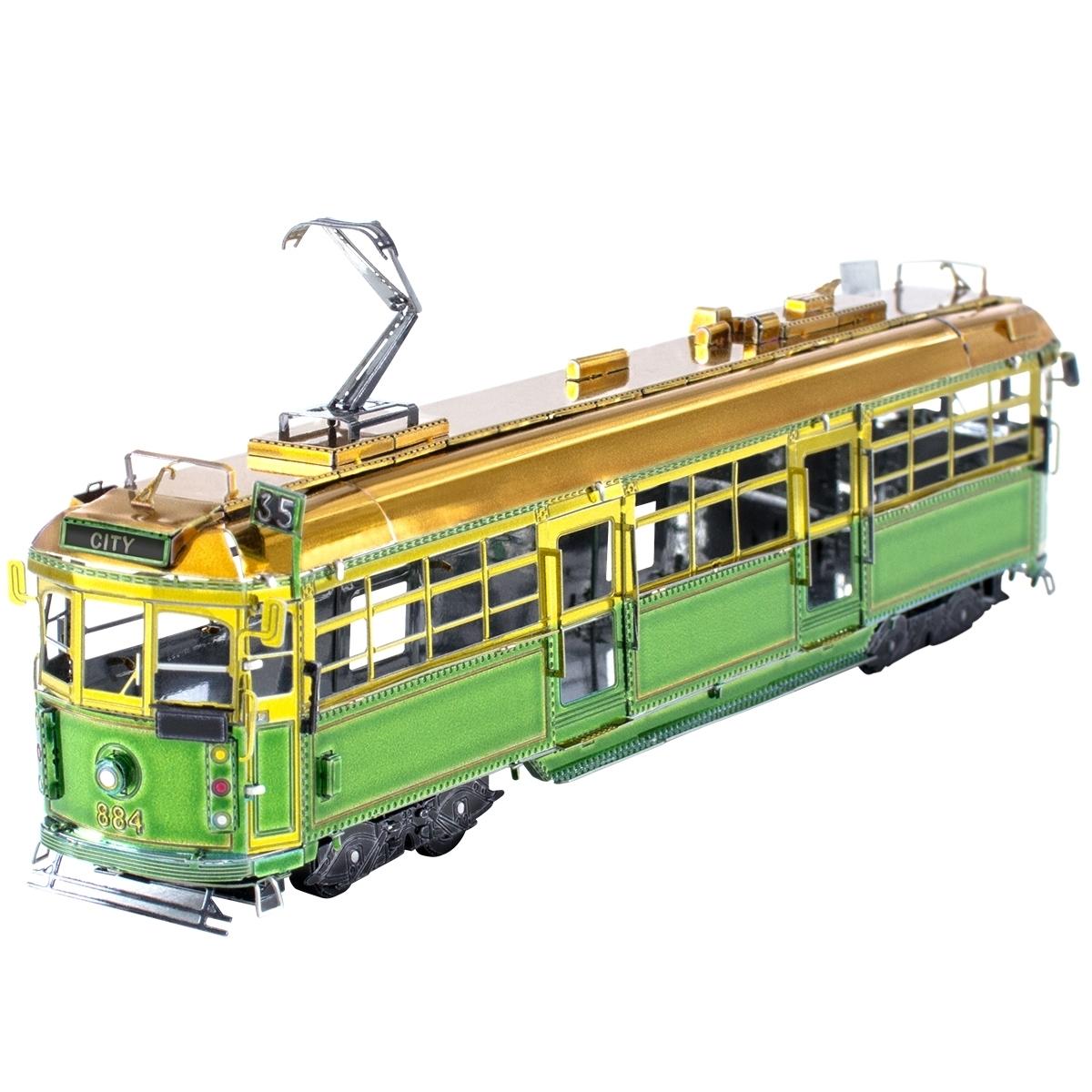Fascinations Metal Earth Melbourne W-Class Tram Unassembled Color 3D Metal Model