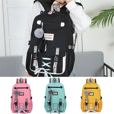 School Bags Large Bookbags for Teenage Girls USB with Lock Anti Theft Backpack Women Book Bag Youth Leisure (Best Get Home Bag Backpack)