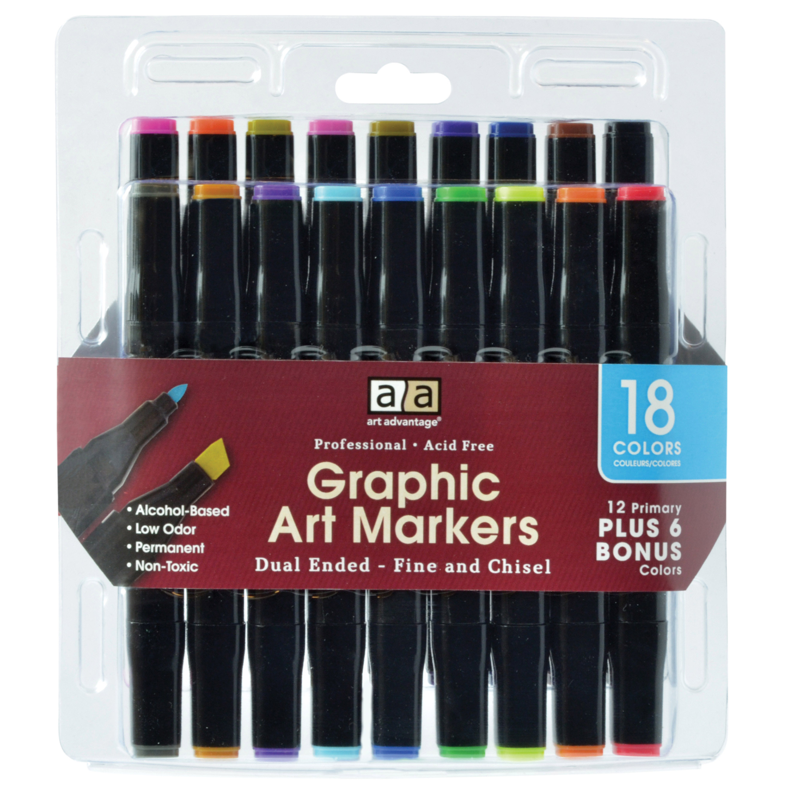 Art Advantage 18 Color Graphic Art Marker Set