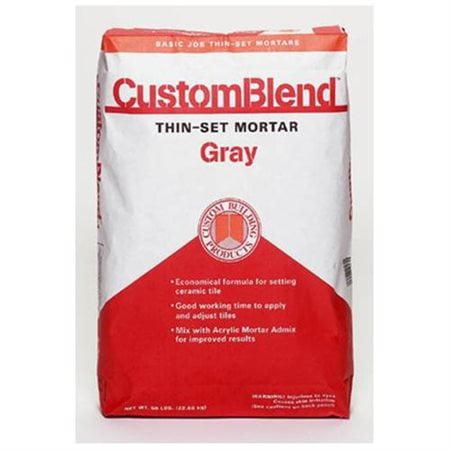 Custom Building Products 50 Lb Gray Custom Blend Thin-Set Mortar CBTSG50