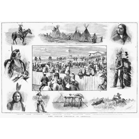 Native Americans 1890 Nscenes Of Daily Life Among Native Americans In The Great Plains 1890 1 Chief Of The Crows 2 A Sioux Camp 3 One Of Sitting BullS Wives 4 A Sioux Chief 5 Ration Day At The Agency