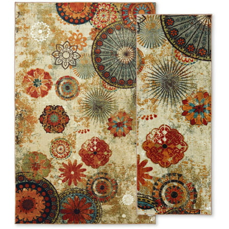 Mohawk Home Caravan Medallion Nylor 5 X 8 Area Rug And